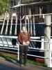Brigitte bei der Besichtigung Papenburgs - leider blieb wenig Zeit dafür