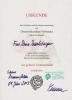 Urkunde des Verbandes