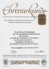 Urkunde des Vereins
