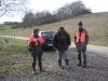Begrüßung durch Jagdherrn und Jagdfreundin