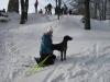 Elisa beim Winterausflug mit Steffi