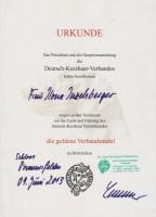Die Goldene Verbandsnadel des DK-Verbandes!