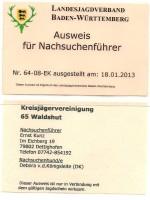 Nachsuchenausweis