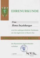 BJV- Ehrenzeichen in Bronze