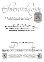 Silberne Vereinsnadel m. Kranz